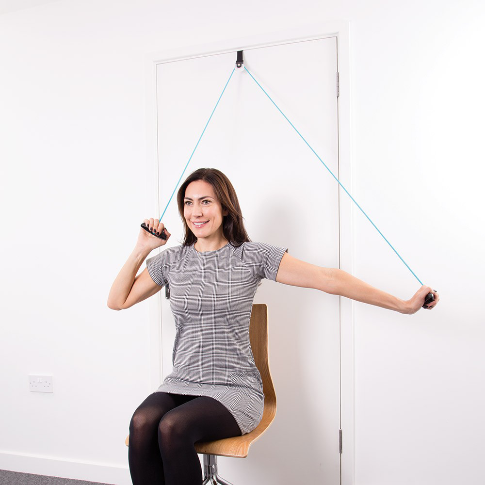 Shoulder Exercise Pulley – aqua / Black – 4M x 10cm x 17 cm (WxLxH ...