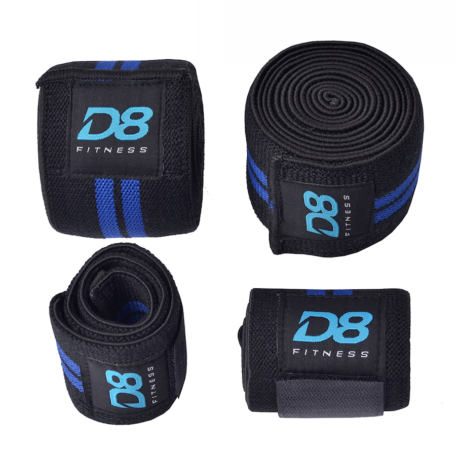 4da981b63a Knee Wraps + Wrist Supports - D8 Fitness