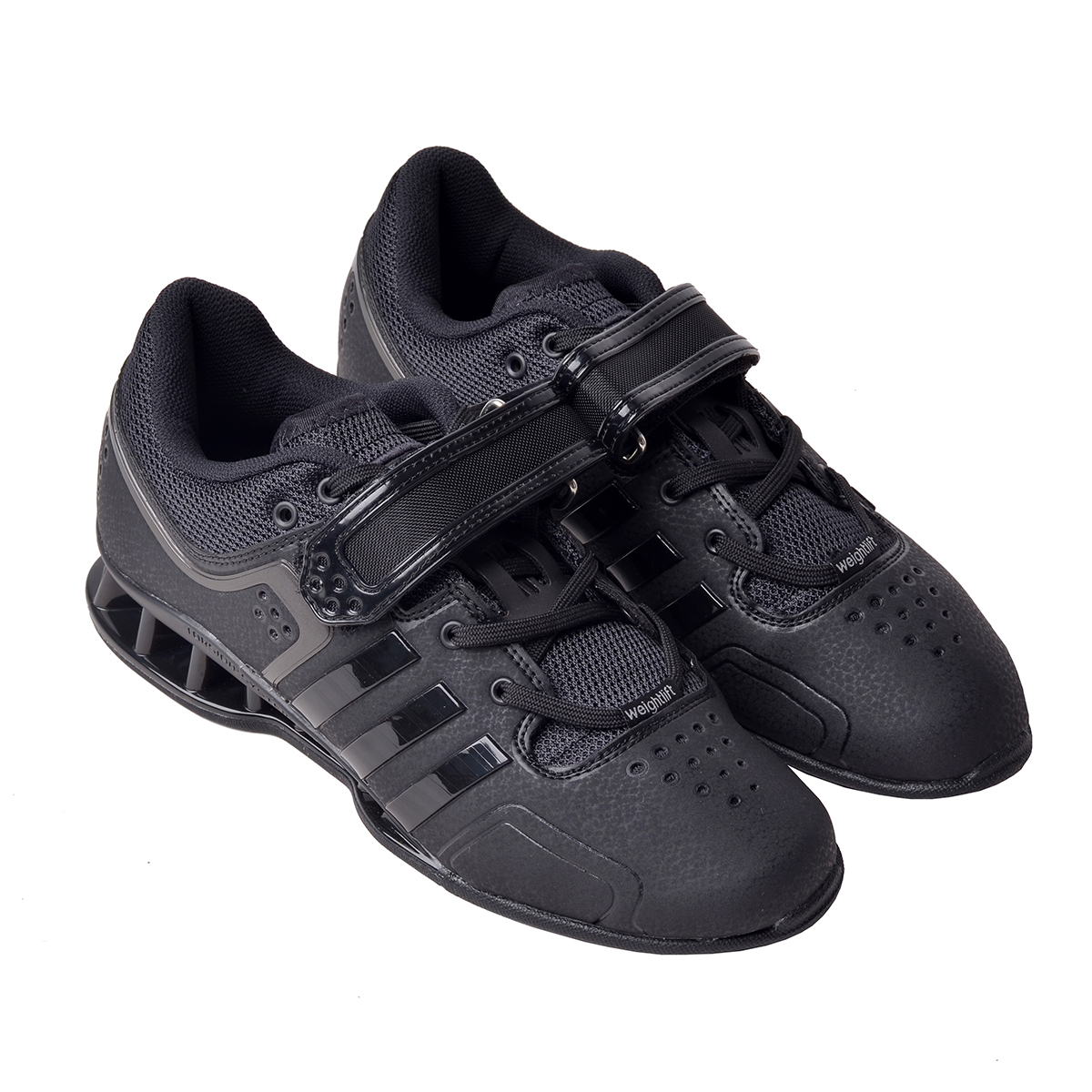 new style 21175 b3cba Adi Power Black Weight Lifting Shoes
